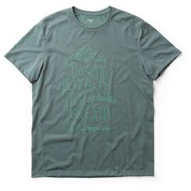 Houdini Big Up Message Camiseta Hombre, storm green